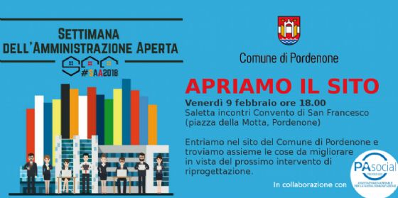 """Trasparenza nell'Amministrazione: a Pordenone incontro pubblico """"Apriamo il sito"""" (© Comune di Pordenone)"""