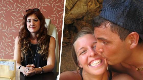 L'avvocato Guarini ed i due fidanzati, in una vecchia immagine. Il giovane è in carcere ad Ivrea