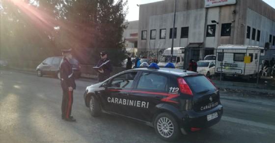 I carabinieri monitorano al situazione