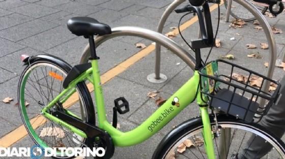 La bici di Gobee.bike (© Diario di Torino)