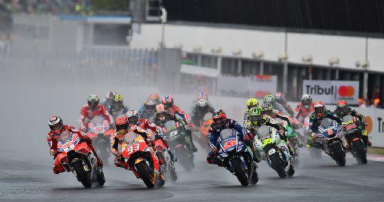 La partenza del Gran Premio di San Marino a Misano 2017