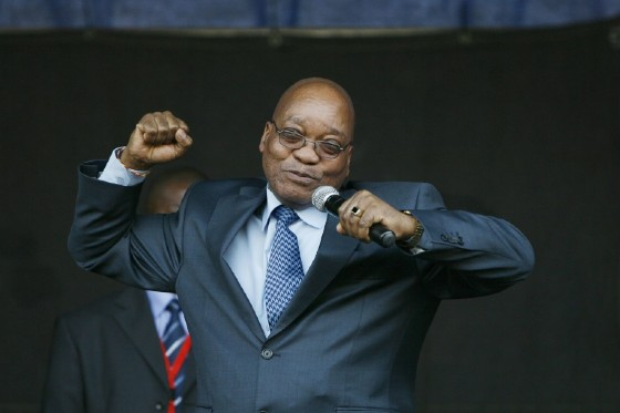 """Zuma often regaled crowds by singing the rousing anti-apartheid struggle song """"Umshini Wami"""" (Bring Me My Machine Gun), which became his signature tune"""