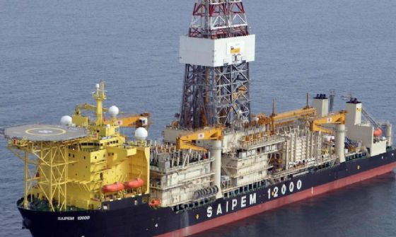 Un'immagine della nave Eni Saipem 12000