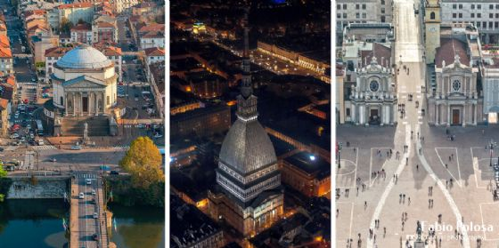 Torino vista da un elicottero: la magia delle foto aeree