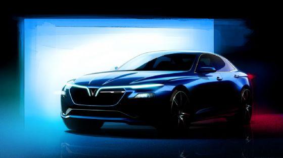 Il rendering della Sedan che Pininfarina svilupperà per VinFast