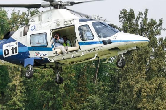 Fabio Polosa in elicottero
