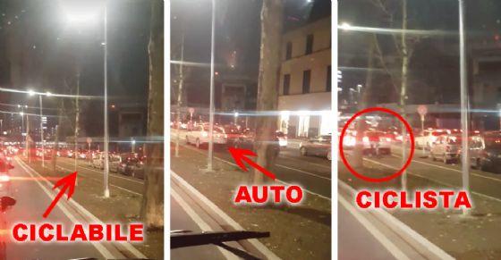La situazione in corso Vigevano, nei pressi di piazza Baldissera