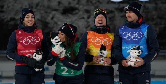 Olimpiadi, biathlon: Nella mass start oro a Fourcade, Weger 27esimo