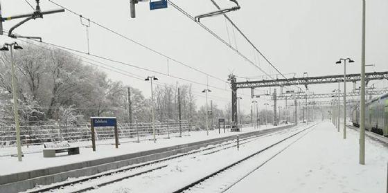 Il gelo di Buran non ferma i treni del Fvg, fatto salvo la Sacile-Maniago ancora ko (© Celeste del Brocco)