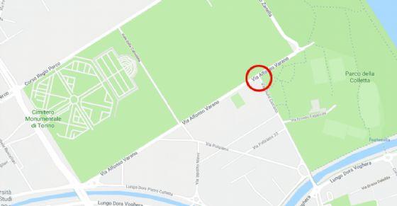 Nuova fermata Gtt per chi si reca al cimitero monumentale (© Google)
