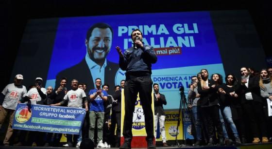 Matteo Salvini al Teatro Nuovo di Torino