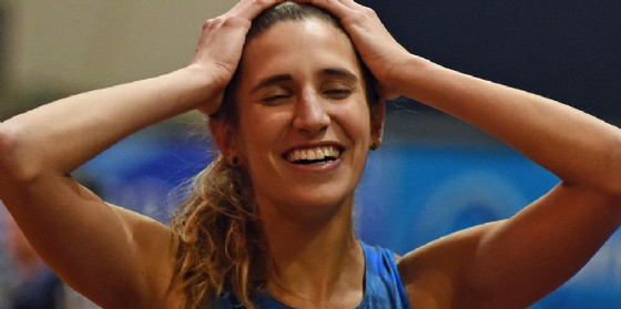 La friulana Alessia Trost conquista il bronzo nel salto in alto (© ANSA)