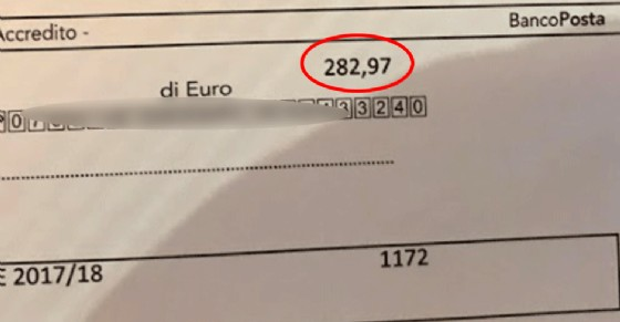 Solo qualche mese fa, questa bolletta di 282 euro era di poco più di 110