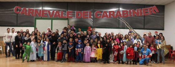 Foto di gruppo durante la festa di sabato 17 febbraio (© Diario di Biella)