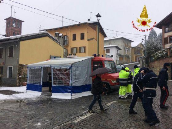 La base operativa delle forze dell'ordine e dei volontari (© Diario di Biella)