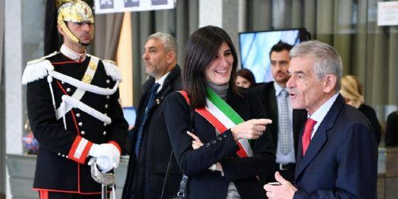 La sindaca di Torino M5S Chiara Appendino e il presidente della Regione Piemonte Pd Sergio Chiamparino.