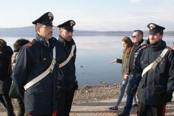Carabinieri in servizio al lago di Viverone (© Diario di Biella)