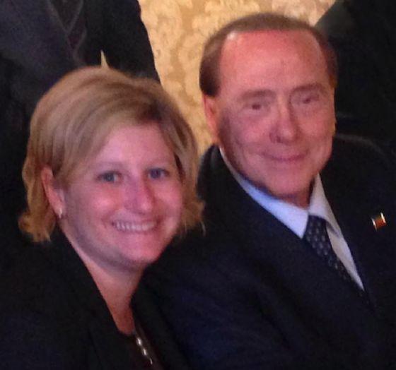 Paolo Vercellotti insieme a Silvio Berlusconi (© Diario di Biella)