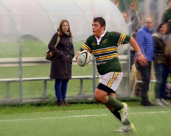 Lorenzo Michelini, atleta U18 del Biella Rugby e dell'Accademia Federale di Milano (De Vigiliis)