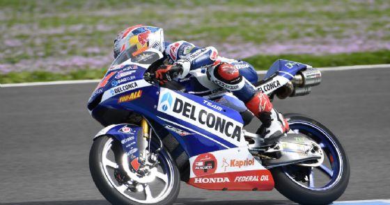 Jorge Martin, leader degli ultimi test pre-campionato della Moto3 con la Honda del team Gresini