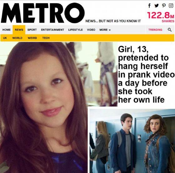 Screenshot dell'articolo su Metro