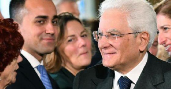 Il candidato premier del M5s, Luigi Di Maio con il presidente della Repubblica Sergio Mattarella