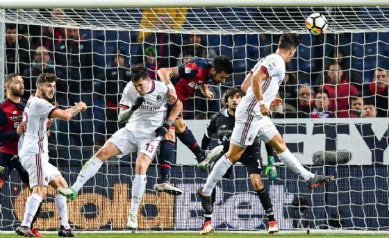 La rete di André Silva che ha deciso al 94' Genoa-Milan