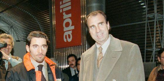 Ivano Beggio con Max Biaggi