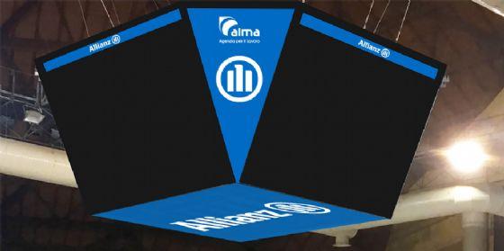 Allianz Wall: ecco il nuovo segnapunti con 4 megaschermi all'Alma Arena (© Alma)