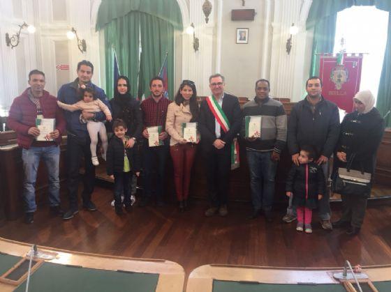 I sette nuovi cittadini biellesi