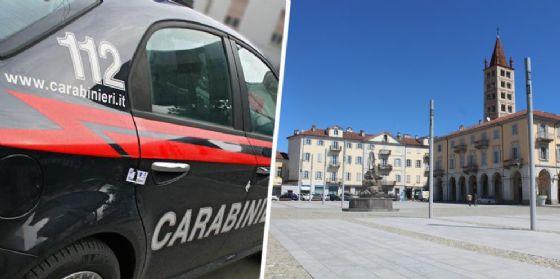 Carabinieri e piazza Duomo (© Diario di Biella)
