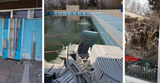 Intrusione nella notte alla piscina Colletta: le immagini