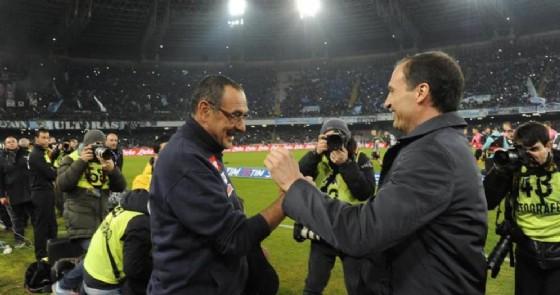 Maurizio Sarri e Massimiliano Allegri