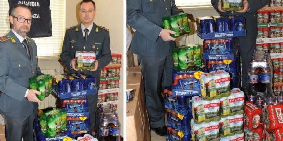 Scoperto un trasporto abusivo di 576 litri di birra di contrabbando (© Gdf)