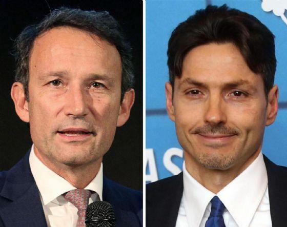L'amministratore delegato di Sky Italia Andrea Zappia e quello di Mediaset, Pier Silvio Berlusconi