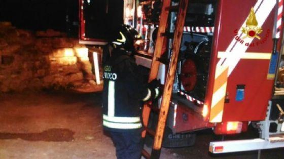 Incendio a Leinì