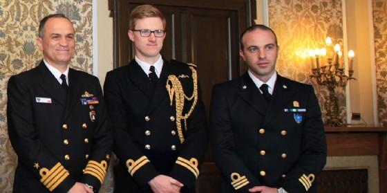 Trieste, Dipiazza riceve una delegazione dei due gruppi navali della Nato (© Comune di Trieste)