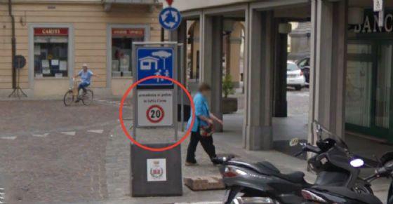 L'autovelox a Carignano (© Google)