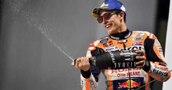 Marc Marquez sul podio del Gran Premio del Qatar
