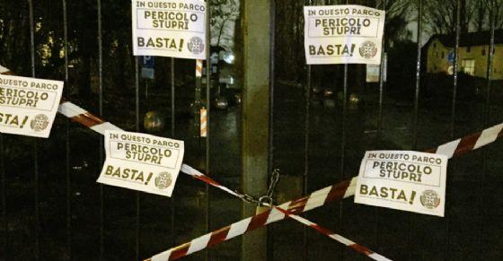 """La cancellata """"sigillata"""" da CasaPound"""