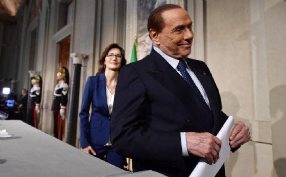 Il leader di Forza Italia Silvio Berlusconi con la capogruppo alla Camera Mariastella Gelmini