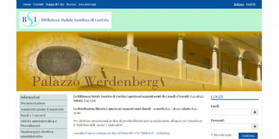 E' online il nuovo sito web della Biblioteca statale isontina (© Biblioteca statale Isontina)