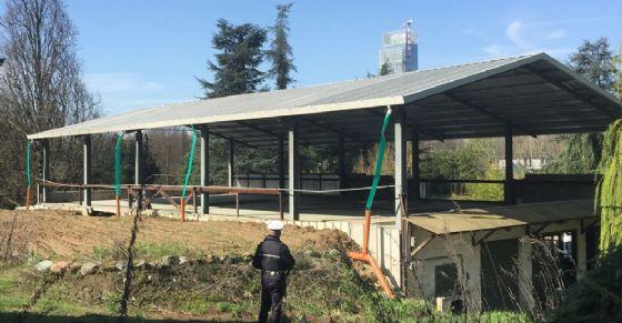 Edificio abusivo in corso Moncalieri (© Polizia di Stato)