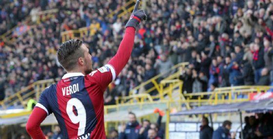 L'attaccante del Bologna Simone Verdi
