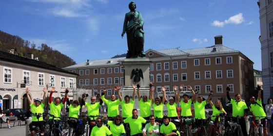 "Ciclismo, ""Grado 2 Salzburg Bike Tour"": gradesi a Salisburgo dopo un viaggio di 408 km (© Grado2SalzburgBikeTour)"