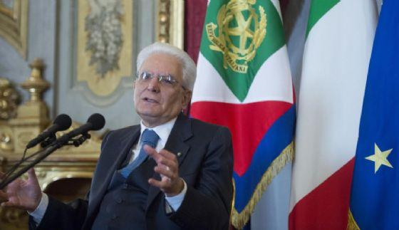 Il presidente Sergio Mattarella.