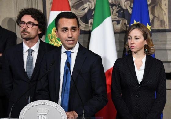 Luigi Di Maio dopo il secondo giro di consultazioni con il Presidente della Repubblica Sergio Mattarella