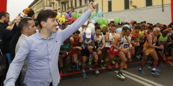 La partenza della maratona