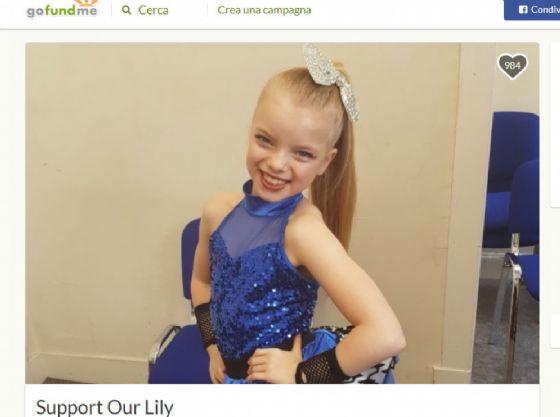 La piccola Lily prima della chemioterapia
