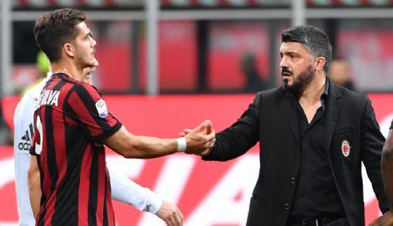 Gattuso con Andrè Silva